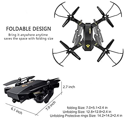 Teeggi xs809hw kf400 X5UW FPV RC Drone with Camera Live Video GPS Smart Return Quadcopter
