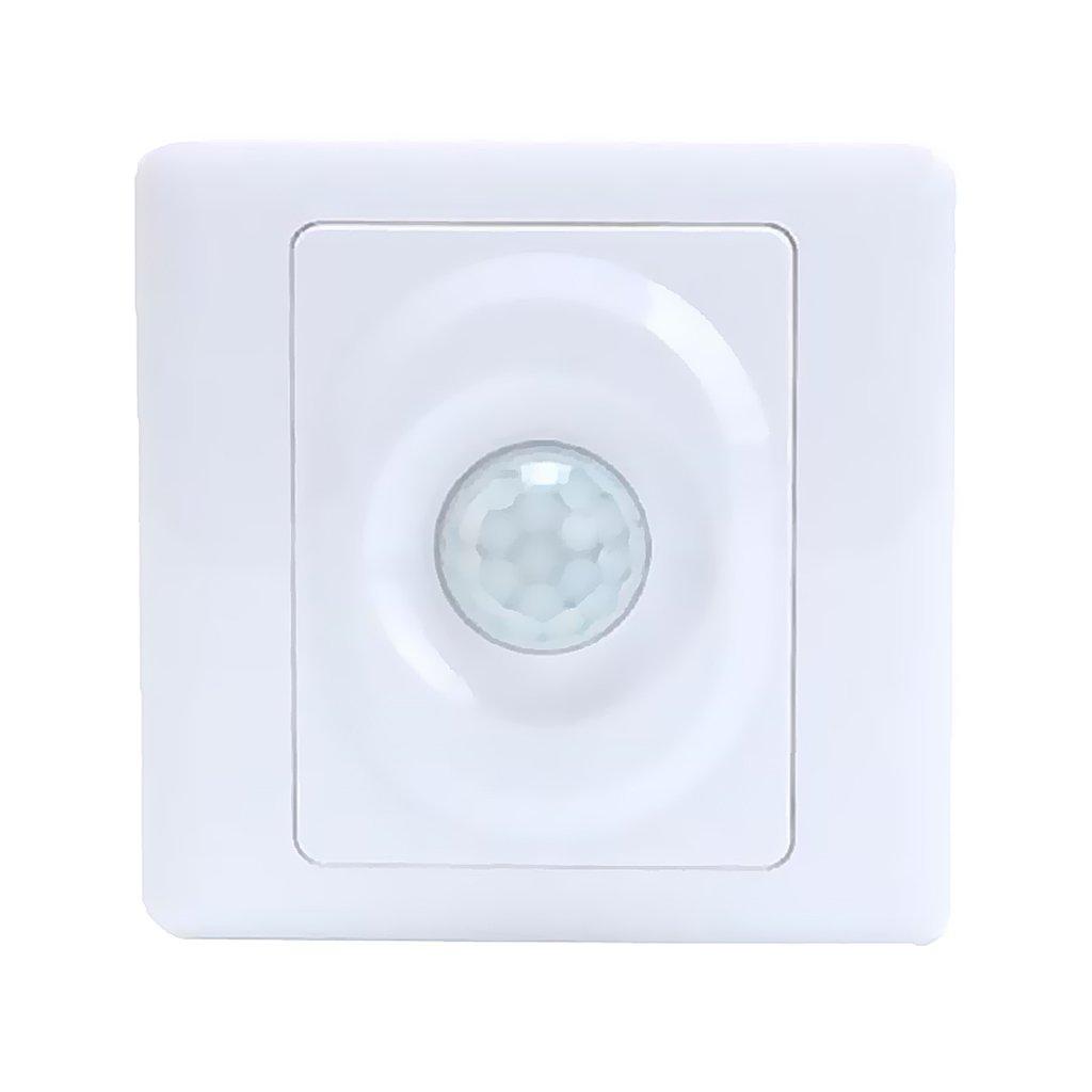 MonkeyJack PIR Motion Sensor Light Switch Detector AC110V-250V Panel 110-140 Degrees