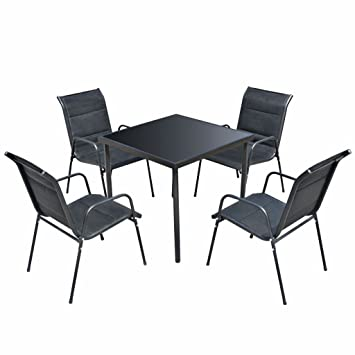 Luckyfu este 5 Piezas Conjunto Mesa y sillas para Exteriores ...