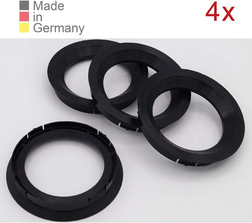 Konikon 4x Zentrierringe 76 00 X 57 10 Mm Schwarz Felgenringe Adapterringe Für Verschiedene Felgen Passend Für Audi Seat Skoda Vw Auto