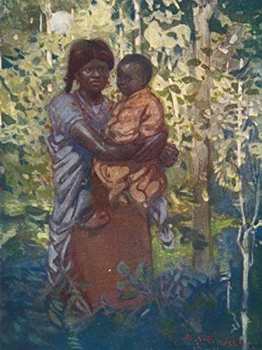 Colombia  A Colombian Indian Mother and Child - 1908 - Old