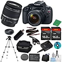 Canon EOS Rebel T5 DSLR with 18-55mm IS + 2pcs 16GB Memory Card + Camera Case + Memory Card Reader + Tripod + 6pc ZeeTech Starter Set - International Version