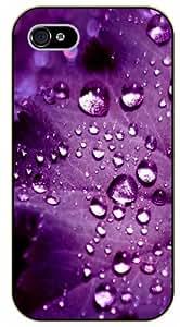 iPhone 5C Purple leave - black plastic case / Nature, Animals, Places Series