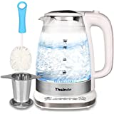 Double Wall Electric Kettle 1.7L (BPA Free),Adjustable Temperature Control Fast Boiling Kettle With Tea Infuser Clean Brush,Blue LED light,Stainless Steel Hot Water Kettle