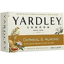 Yardley London Oatmeal and Almond Naturally Moisturizing Bath Bar, 4.25 oz.