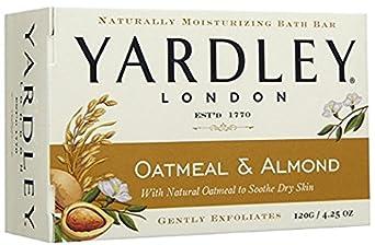 Yardley London Oatmeal and Almond Naturally Moisturizing Bath Bar, 4.25 oz. Pack of 24
