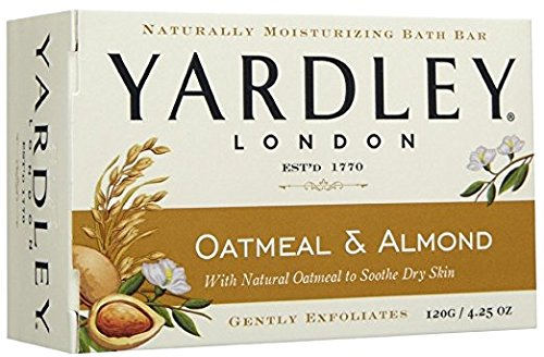 Yardley London Oatmeal and Almond Naturally Moisturizing Bath Bar, 4.25 oz. (Pack of 12) - London Natural