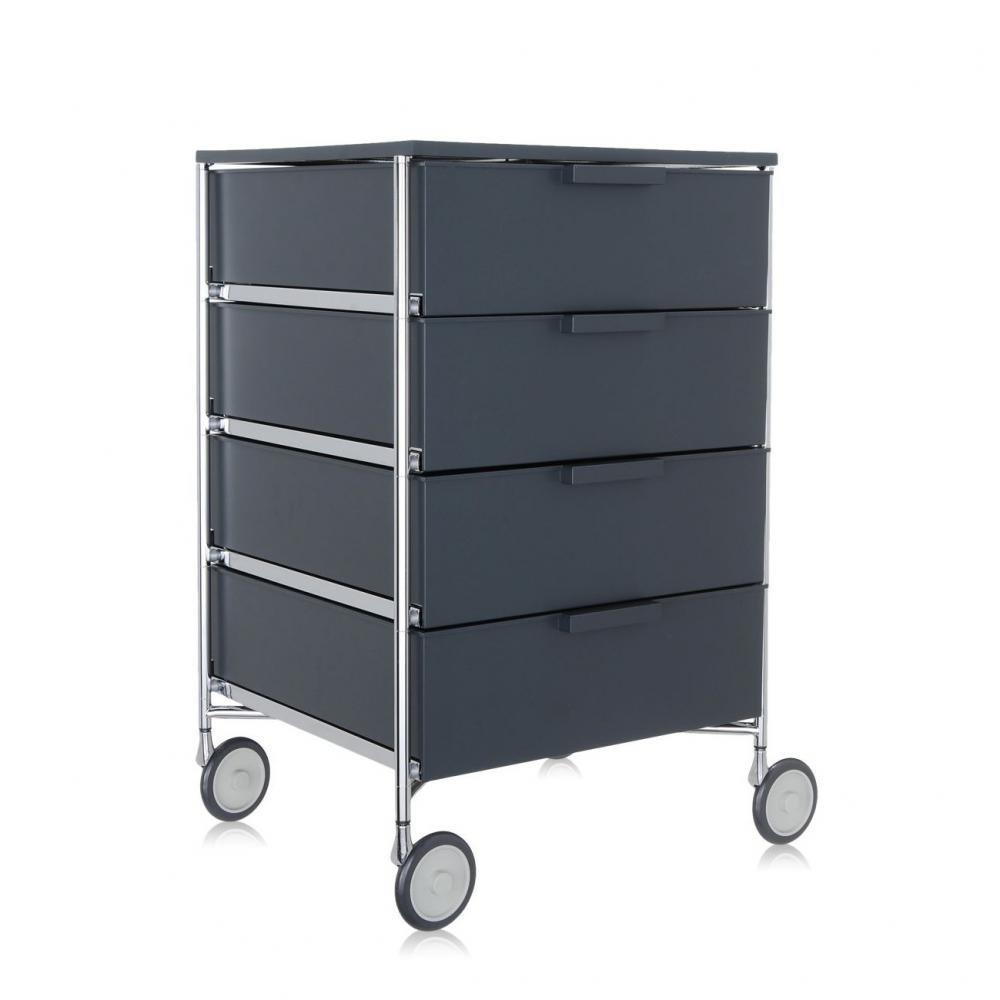 Kartell 2024L5 Container Mobil, 4 Schubladen, matt schiefergrau