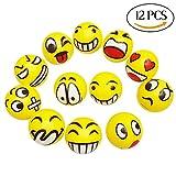 CCINEE Emoji Face Squeeze Stress Balls Jet Bouncy Balls Party Bag Filler by
