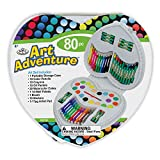 Royal Brush Manufacturing Company Art Adventure 80-Piece Heart Art Set