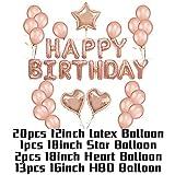 RUNFURU 30/40/50 Happy Birthday Party Rose Gold Balloons Wedding Anniversary Decor Birthday Party Supplies Birthday Set 2