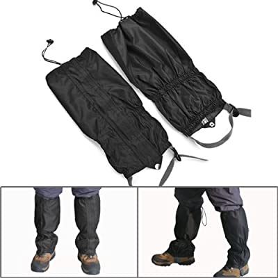 Hot Breathable Unisex Double Sealed Velcro Zippered Closure TPU Strap Water Resistant 400D Nylon Cloth Leg Gaiters Leggings Cover for Outdoor