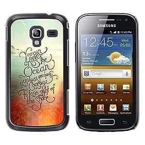 Be Good Phone Accessory // Dura Cáscara cubierta Protectora Caso Carcasa Funda de Protección para Samsung Galaxy Ace 2 I8160 Ace II X S7560M // sunset ocean surf surfboard summer