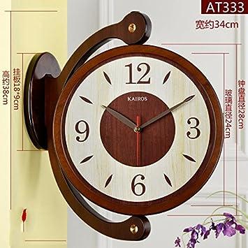 HUANGYAHUI Despertador Relojes De Salón Reloj Reloj De Pared Grande Con Dos Caras Cuadro Gráfico De