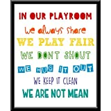 Cuadro Decorativo Playroom childreen we laugh salon de juegos Boys Rule Kids Brothers Niños Hombres Funny Love Peace Quote Frase Blanco y Negro Cuadro decorativo Print Animales Regalo Arte Poster Cuadro Decorativo Art Wall Art Vintage Decor Home Decor Decoración Retro Hipster Cool Boys Room Cuarto Niños Children