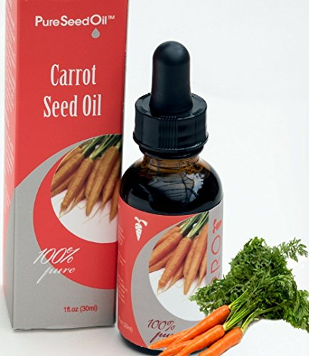 Anti-Aging Carrot Pure-Seed-Oil. All-Natural Cold-Pressed|Undiluted-Carrier-Oil. Great for Face/Hair/Body. Use Alone or Infuse favorite Luxury-Skin-Care Products! Gluten-Free|Parabens-Free 0.5 oz