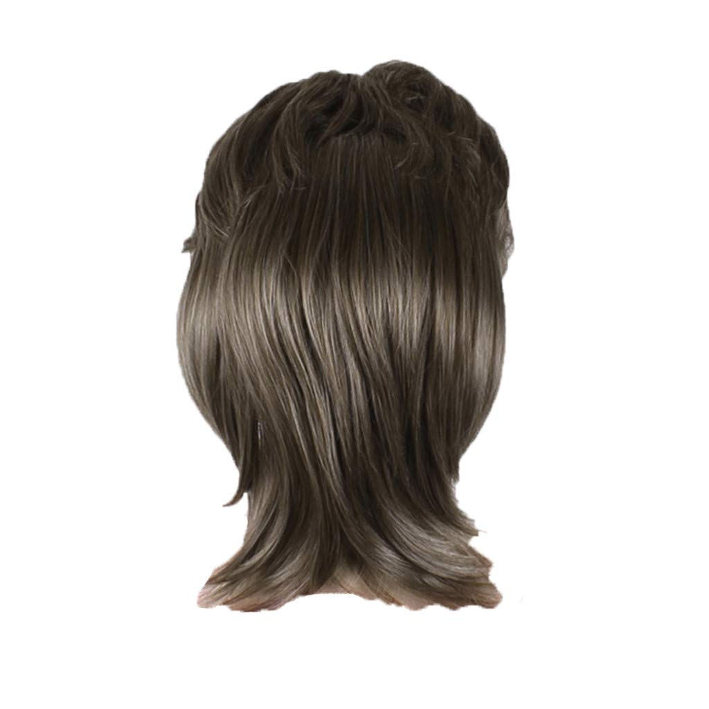 Wigs For Black Women 2019 Men Fashion Brown Short Hair Wig Perfect Carnivals Party Cosplay Festival by BOLUOYI (Image #3)