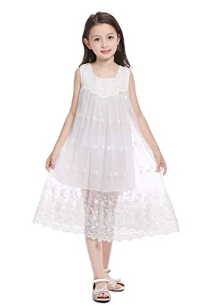 a4de77476 CVERRE Vintage Boho Rustic Outdoor Flower Girl Lace Beach Dress 1 - 6 (1)