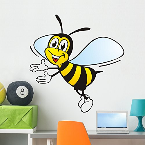 Fleia Ige Biene Wall Decal by Wallmonkeys Peel and Stick Graphic (36 in H x 36 in W) - Buy Nectar Where To