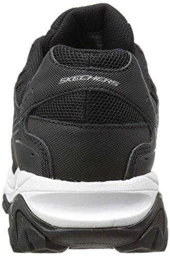 Zapatilla de deporte Skechers Sport Afterburn de espuma viscoelástica con cordones Negro