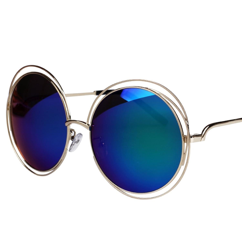 The Korean version of sunglasses/Super box round sunglasses/Retro trend frog mirror