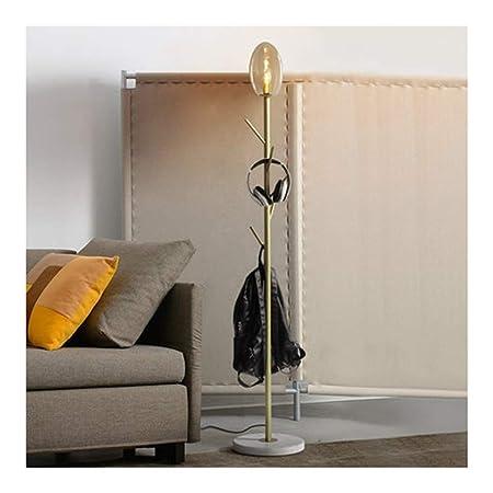LLLKKK - Lámpara de pie Moderna para Perchero de pie con luz ...