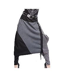 Aubig Women Casual Loose Hip Hop Baggy Harem Pants Dance Trousers