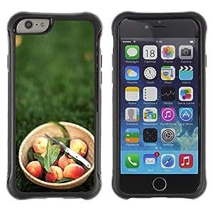 Pulsar Defender Series Tpu silicona Carcasa Funda Case para Apple iPhone 6 Plus(5.5 inches), Fruit Macro Peach Basket