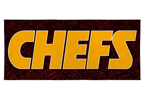 City Beach Chiefs Towel Kansas (Personalized Corner Kansas City Chiefs Large Beach Bath Pool Towel - KC Football Gift for Men Women Kids - Funny Chefs Logo from Snickers Ad)