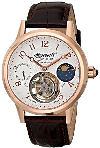 Ingersoll Men's IN5305RG Pierce Tourbillon Analog Display Mechanical Hand Wind Brown Watch