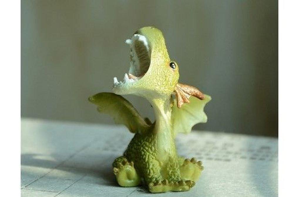Miniature Dollhouse FAIRY GARDEN ~ Roaring Mini Dragon Figurine ~ NEW