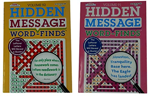 Kappa Large Print Word Finds (2 Books - Volume 91 and 92) - Hidden Message Search Puzzles