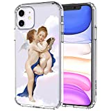 MOSNOVO iPhone 11 Case, Angel Love Pattern Clear Design Transparent Plastic Hard Back Case with TPU Bumper Protective Case Cover for Apple iPhone 11 (2019)