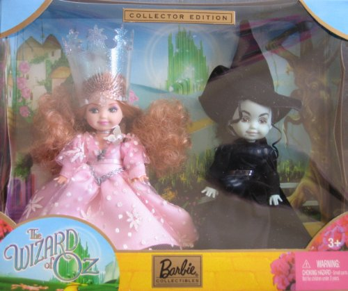 KELLY Doll as Glinda and the Wicked Witch of the West Giftset - Wizard of Oz Barbie Collectibles (2003)