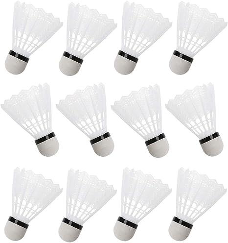 12 Pcs//Set White Shuttlecocks Badminton Foam Balls Leisure Outdoor Games Sports