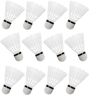 JERKKY 12Pieces Blanc Badminton Volants en Plastique Intérieur en Plein Air Gym Sport Accessoires