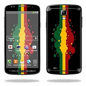 Protective Vinyl Skin Decal Cover for Samsung Galaxy S4 Active I9295 Sticker Skins Rasta Flag