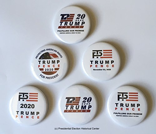 - Donald Trump and Mike Pence Re-Election 2020 Presidential Campaign Button Set of 6 (TMPPNCE-701-FBA)