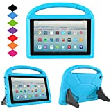 kindle fire protection case - New Fire HD 10 2017 Tablet Case-TIRIN Light Weight Shock Proof Handle Stand Kids Friendly Case for Amazon Fire HD 10.1 Inch Tablet (7th Generation, 2017 Release),Blue
