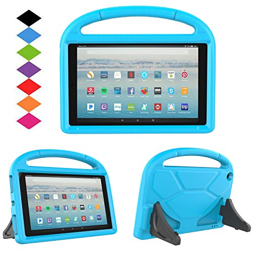 New Fire HD 10 2017 Tablet Case-TIRIN Light Weight Shock Proof Handle Stand Kids Friendly Case for Amazon Fire HD 10.1 Inch Tablet (7th Generation, 2017 Release),Blue (Kindle Fire Hd Kid Proof Case)