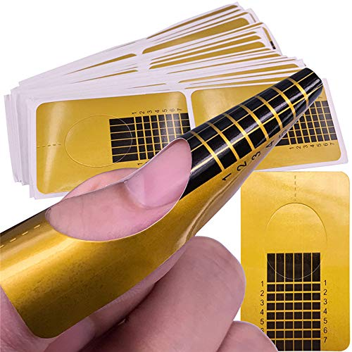Libobo Nail Art Tips Extension Forms Guide French DIY Tool Acrylic UV Gel (10Pcs)