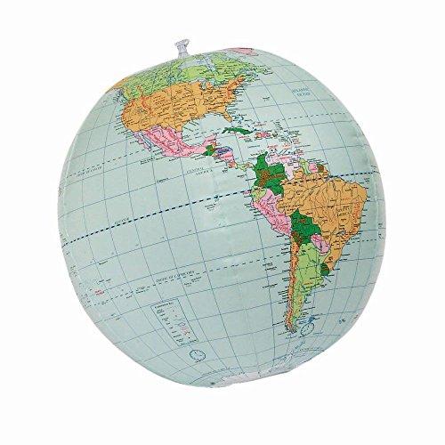 - Inflatable 24-inch World Globe