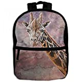 Serengeti Color Africa Giraffe Childrens School Backpacks Casual Daypack Travel Outdoor For Boys And Girls