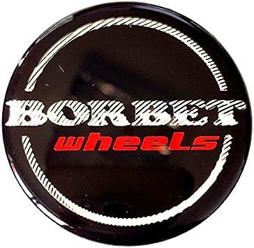 Original Borbet Wheels 56mm Nabendeckel Nabenkappe Schwarz Glanz Silber Rot Center Cap Deckel Felgendeckel Auto