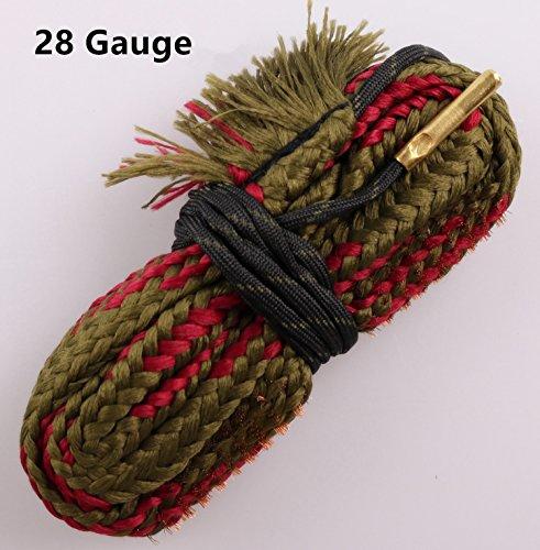 New Bore Cleaner 28 GA Gauge Gun Barrel Cleaning Rope Rifle/Pistol/Shotgun Brass Brush Cleaning Cord