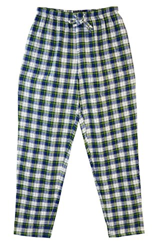 State O Maine Big and Tall Tartan Flannel Lounge Pant (Blue 4X)