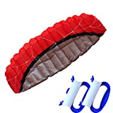 Sunfei New Arrival Huge 8.2 inch Dual Line Parachute Stunt Kite with Flying ToolsPower Parafoil Kitesurfing Training kites Outdoor Fun Sports for Beach Summer Red