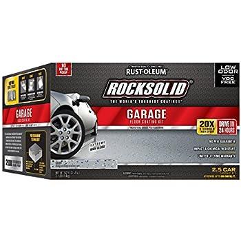 Rust oleum rocksolid 152 oz mocha polycuramine 2 5 car for Rock auto garage