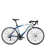 Trinx TEMPO1.0 700C Road Bike Shimano 21 Speed Racing Bicycle 53cm 56cm (Blue/White, 56cm)