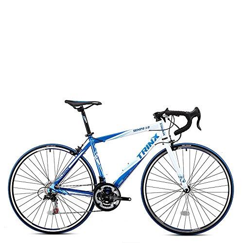 Trinx TEMPO1.0 700C Road Bike Shimano 21 Speed Racing Bicycle 53cm 56cm (Blue/White, 53cm) Trinx
